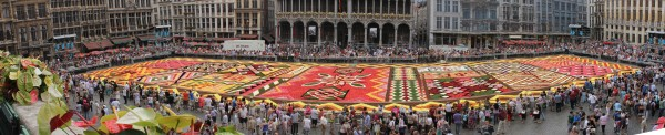 flower carpet 600x122 Brussels flower carpet