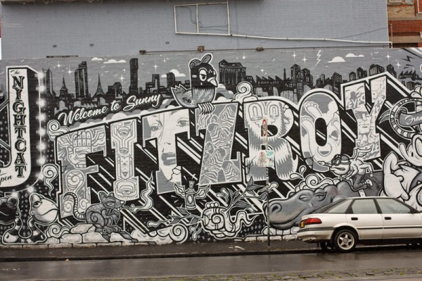 4454 2 graffiti wall in fitrzroy melbourne australia 600x399 Top 12 Free Things to do in Melbourne