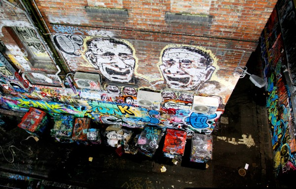 Hosier Lane Melbourne Graffiti corner 600x384 Top 12 Free Things to do in Melbourne