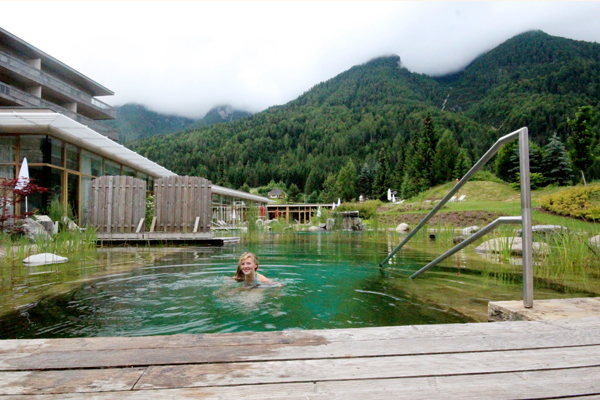 trav natural swimming pond Falkensteiner Hotels in Carinthia   an oasis for wellness and well being