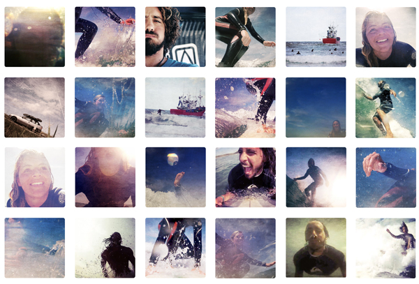 trav surfing collage San Vicente de la Barquera   surfing, cows and sunsets