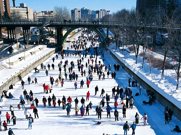rideau Get your skates on at the worlds coolest ice rinks