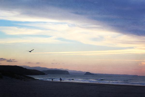 trav playa xago sunset Playa de Xago    a Mysterious Surf Spot in Spain