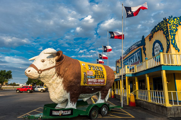 Big Texan outside A Culinary Road Trip in America's Deep South