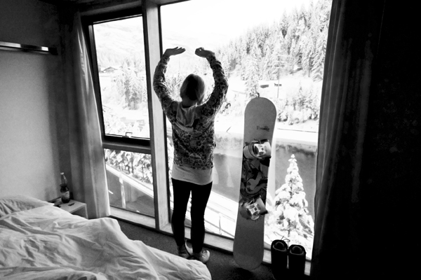 trav morning view riders palace 10 Reasons why Snowboarding in Laax rocks