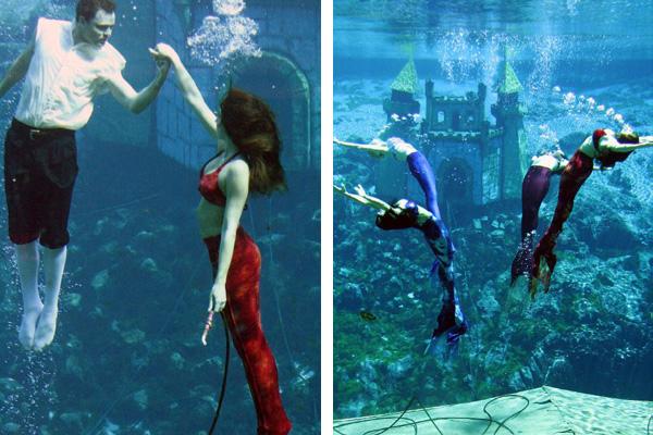 Weeki Wachee Mermaids performing