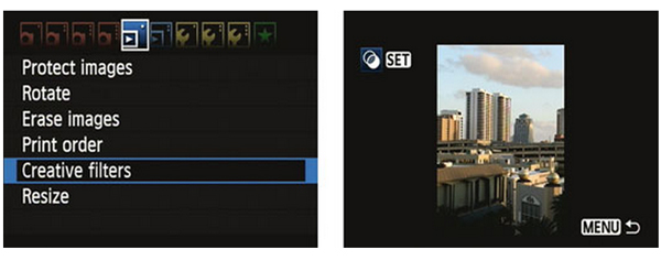 camera command creative filters