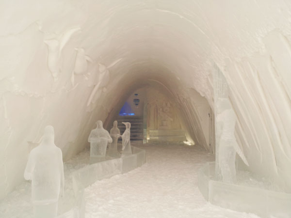 Snow Castle Corridor Queen of the Snow Castle for a day in Kemi, Finland