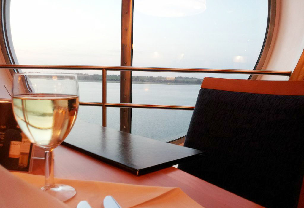 Glass of Wine Stena Sailing to Continental Europe in Style
