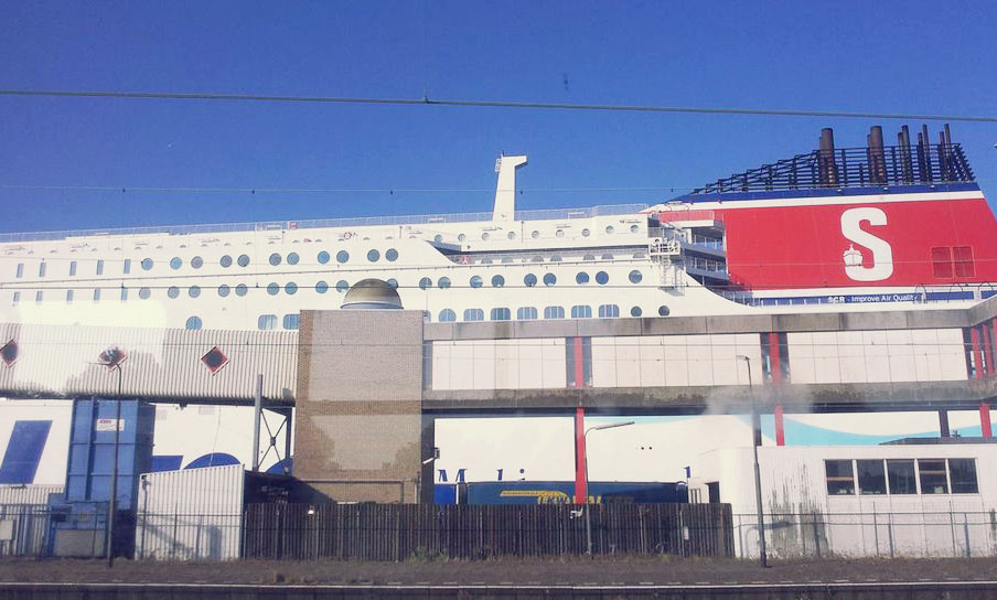 StenaLine Ferry from the train Sailing to Continental Europe in Style