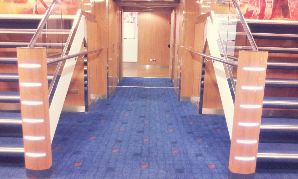 Stenaline Ferries Staircase Sailing to Continental Europe in Style