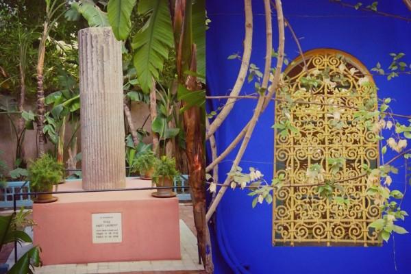 Jardin Majorelle Yves memorial