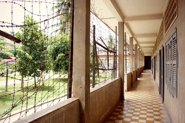 corridor barbed wire