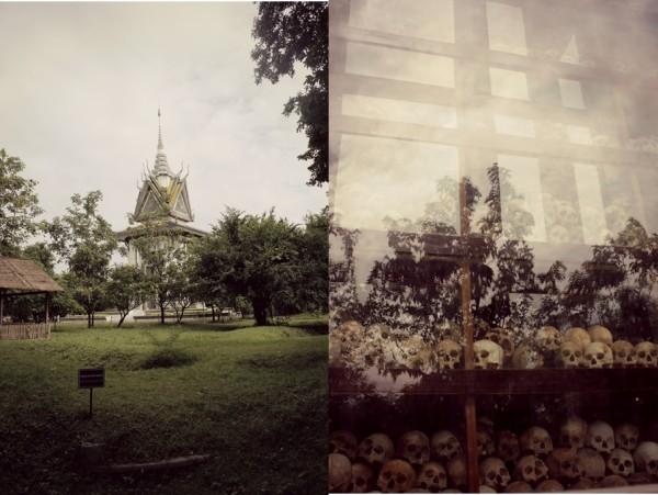 stupa and skulls