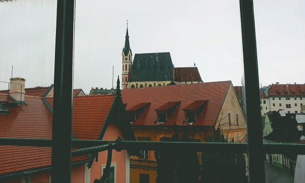 View through studio windows Fotoatelier Seidel