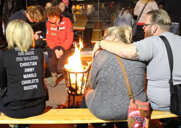 Around the fire at Nacht van de Kaap