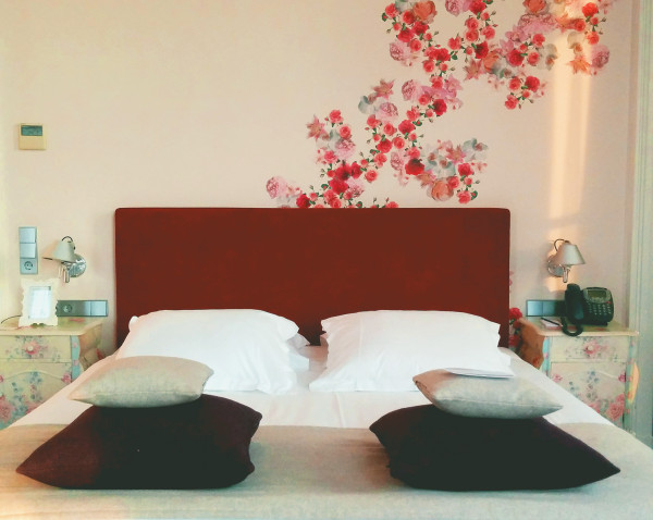 Bed in Honeymoon Suite at Hotel Pincoffs Rotterdam - Frances M Thompson