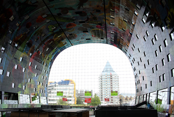 Giant window of Markthal Rotterdam