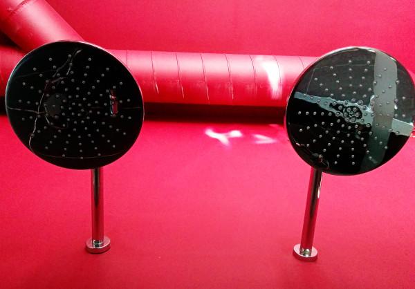 Twin Head Shower at Hotel Pincoffs Rotterdam - Frances M Thompson