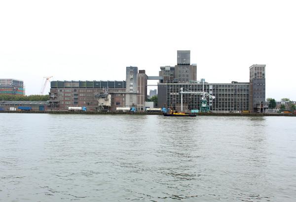 View of Kattendrecht from Kop van Zuid in Rotterdam