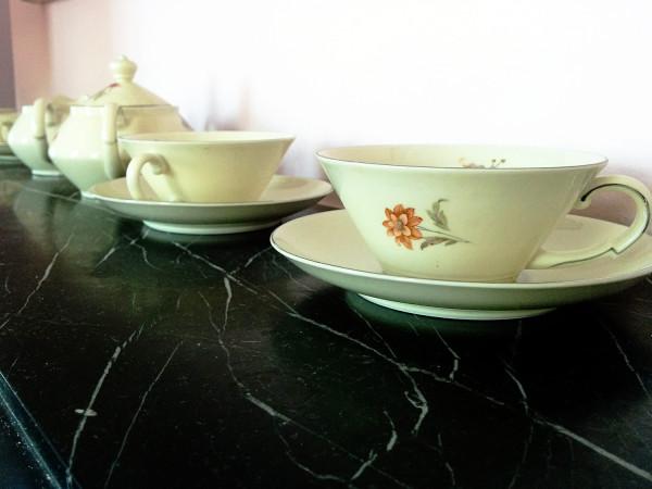Vintage tea cups at Hotel Pincoffs Rotterdam - Frances M