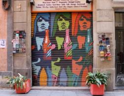 Street art and graffiti on Barcelona's shutter doors