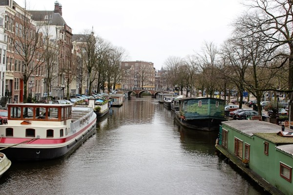 Amsterdam in Winter by Frances M Thompson