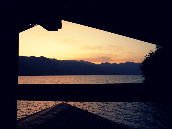 kanchanaburi house boat sunset edit