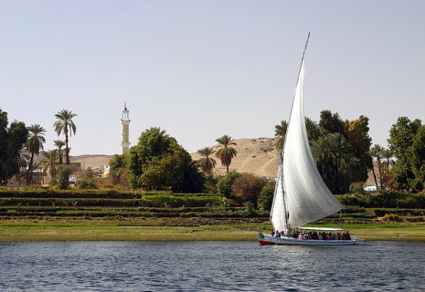 Along the Nile in Egypt - Felucca at Aswan