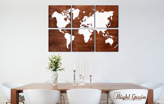 ETSY Wish List - Wood World Map 1
