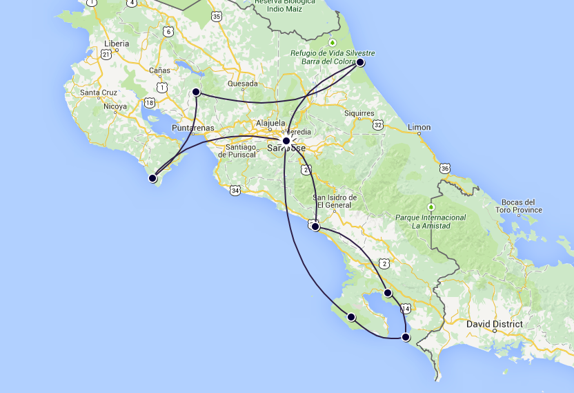 The Travelettes Itinerary - Costa Rica in one Month