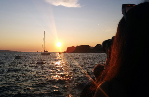 Sunset on the island of Hvar - by Frankie Thompson