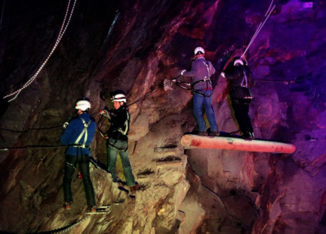 The ultimate adrenaline rush at Llechwedd Slate Caverns