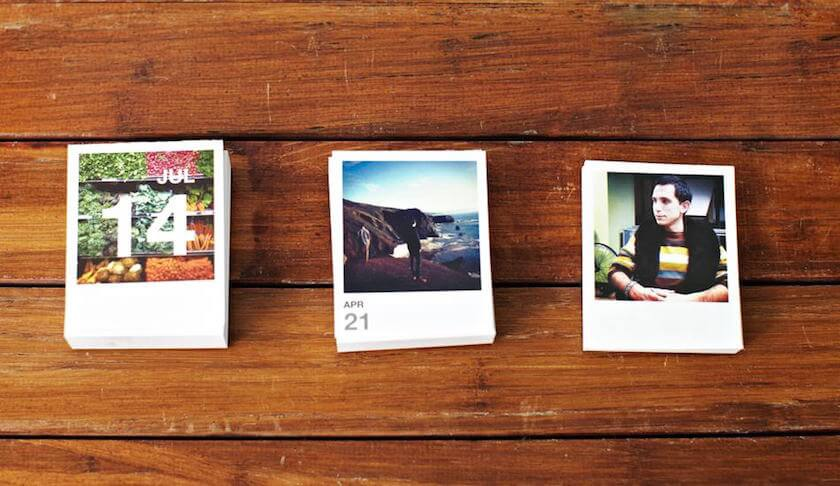 10 awesome ways to turn your photos into christmas gifts - Tearaway Calendar, Social Print Studio