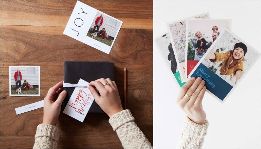 10 awesome ways to turn your photos into christmas gifts - christmas photo cards, artifact uprising