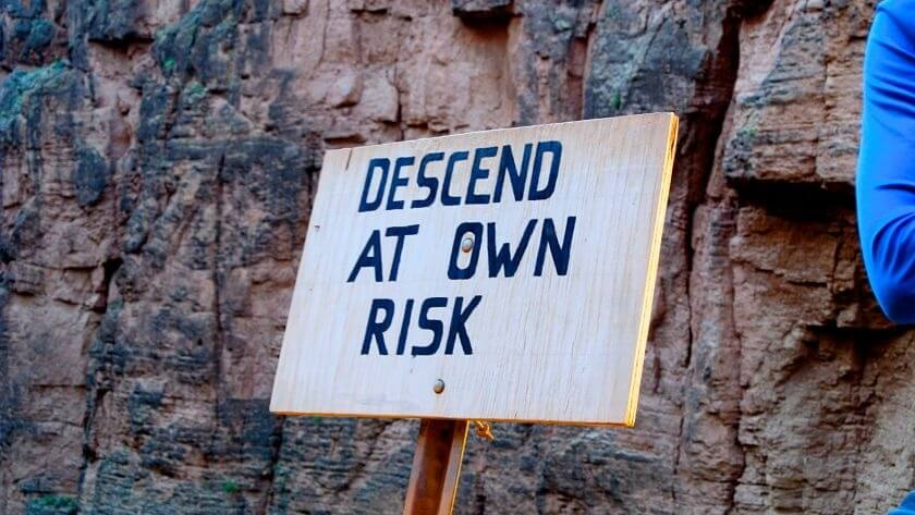 Descend at own risk