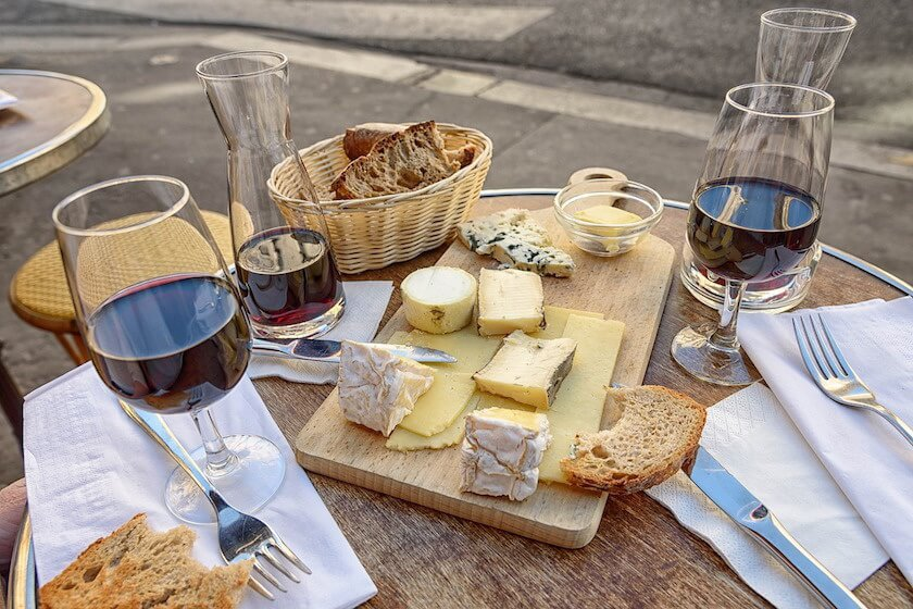 Normandy Cheese and Wine