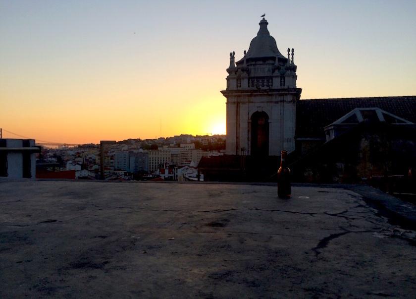 best sunset in lisbon