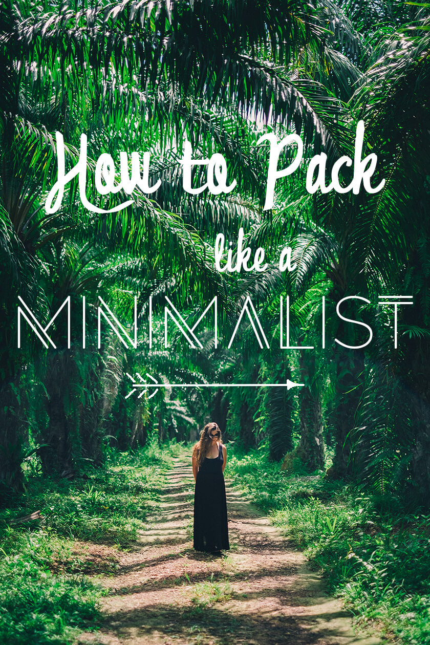 how to pack like a minimalist