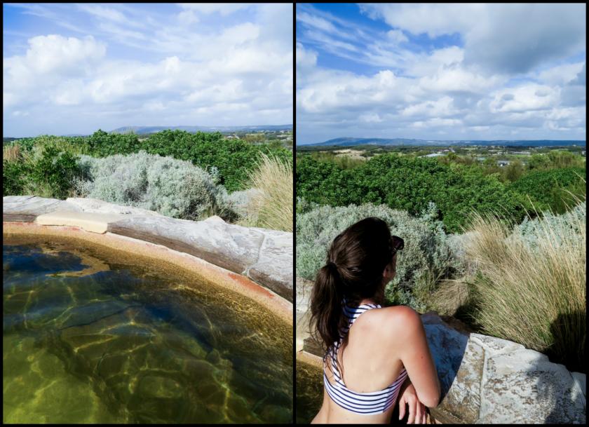 hilltop pool view hot springs