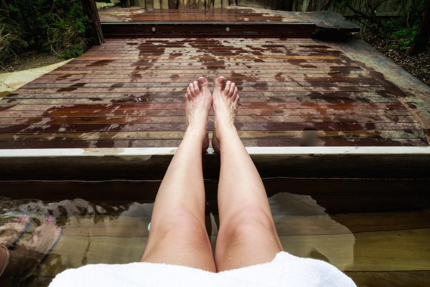 relaxing at peninsual hot springs