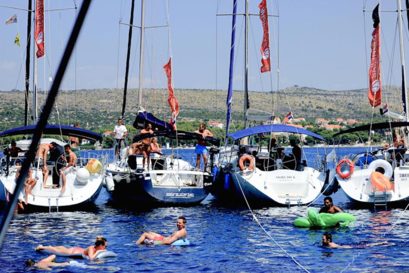 156 Sophie Saint raft party travelettes sailling.hr Croatia