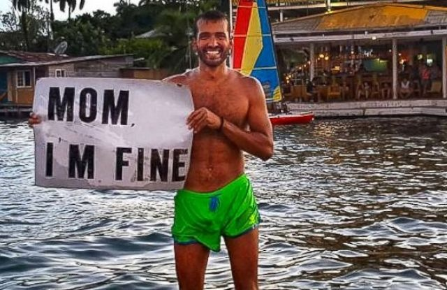 """Mom I'm fine"" - How one world traveler is earning his son of the year badge"