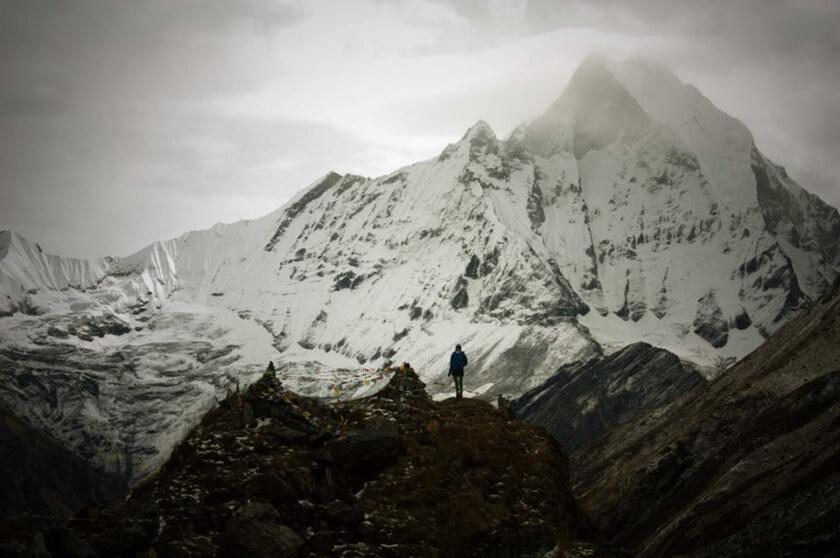 At Annapurna Base Camp (4130m) in Nepal