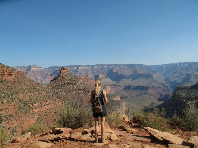 Hiking in the Grand Canyon, USA