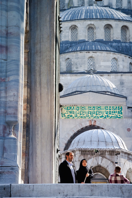 Istanbul Mosque Selfie Stick Refugee Crisis
