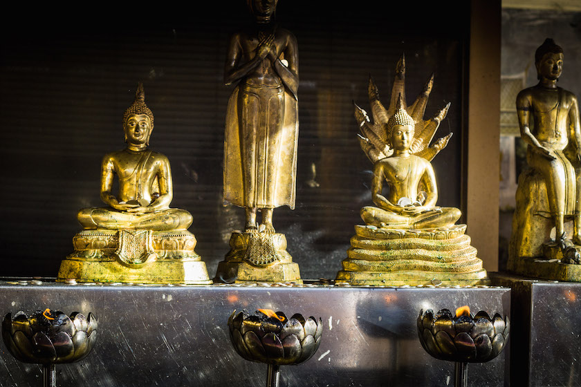 Buddha Position Day Sitting Standing Prayer Thailand