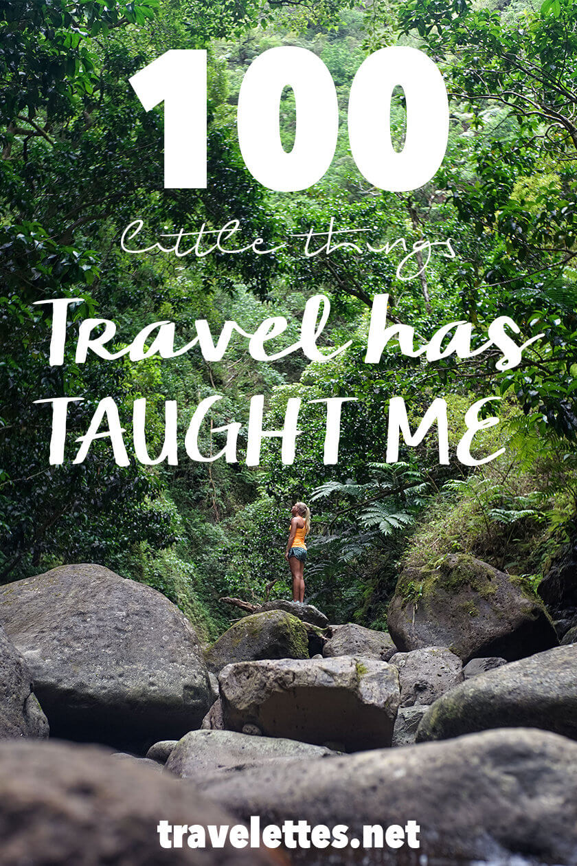100 little things that travel has taught me