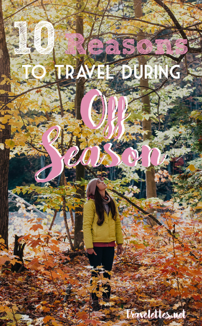 There's nothing good about the end of summer - except of course that the best time to travel starts right now! Here are ten good points for off season travel!