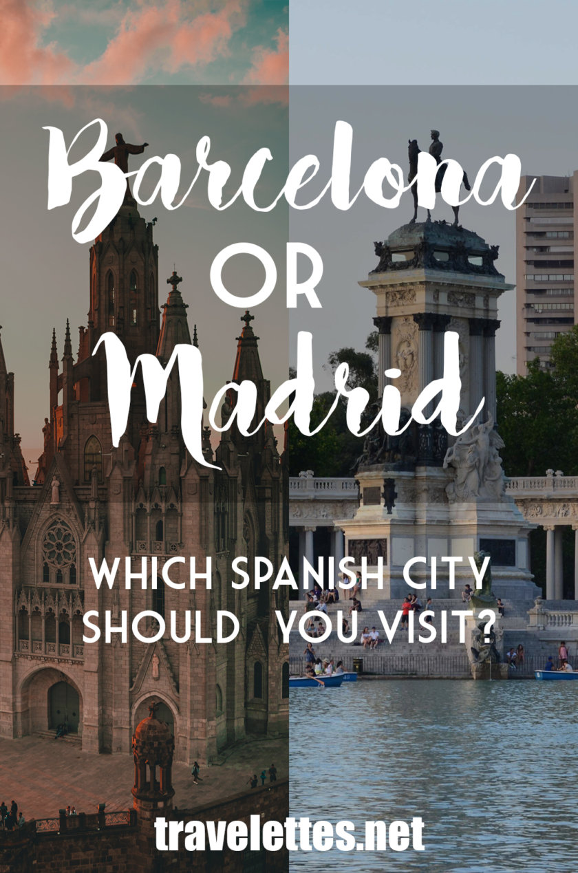 Barcelona and Madrid have a lot to offer - but what if you can only fit one of them in your itinerary? Which one should you visit - Barcelona or Madrid?